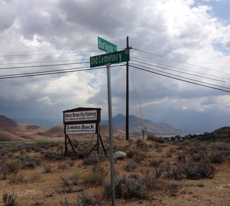 NO. 132 KERNVILLE, turn east at this intersection