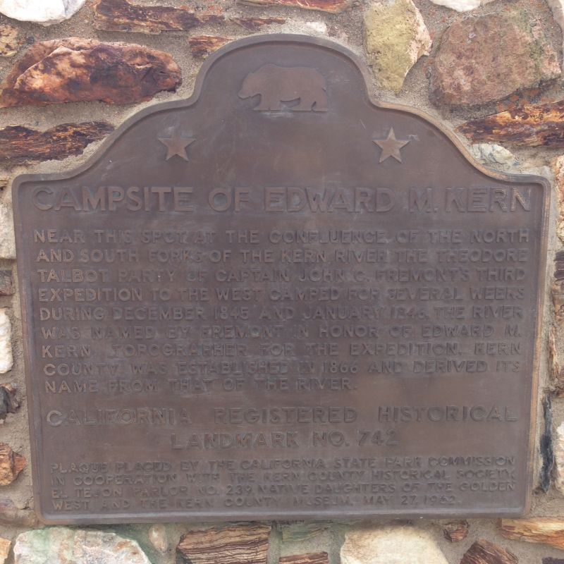 NO. 742 CAMPSITE OF EDWARD M. KERN, State Plaque