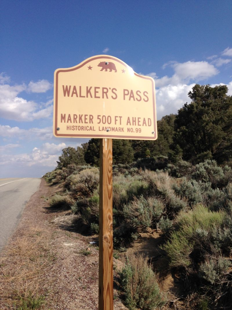 NO. 99 WALKER'S PASS, State Street Sign