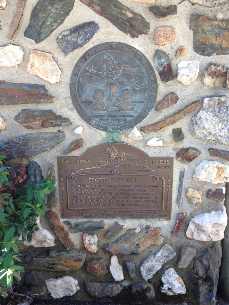 NO. 704 SPORTSMAN'S HALL OVERLAND PONY EXPRESS, Pony Express Plaques