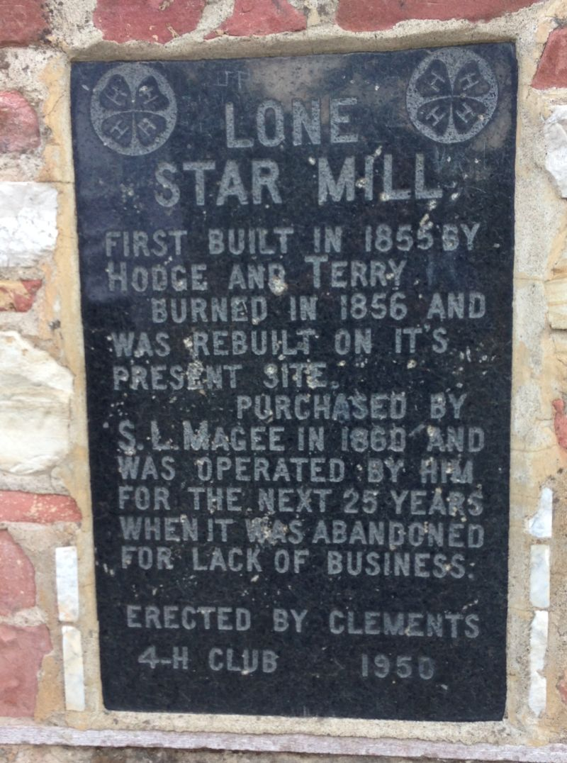 NO. 155 LONE STAR MILL, Private Plaque