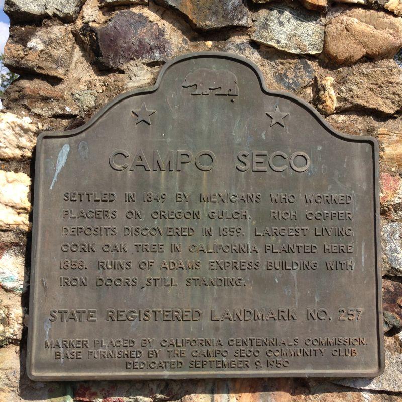NO. 257 CAMPO SECO - State Plaque