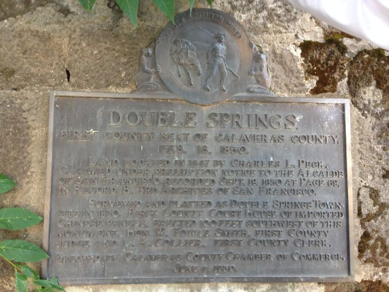 NO. 264 DOUBLE SPRINGS - Private plaque on site