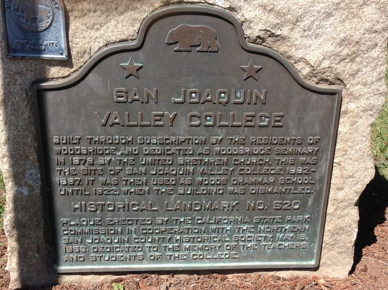 NO. 520 SAN JOAQUIN VALLEY COLLEGE - State Plaque