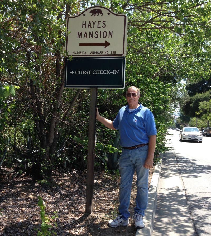 NO. 888 HAYES MANSION - Street Sign