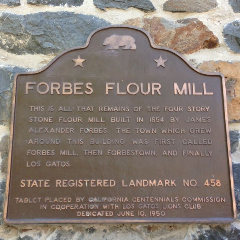 NO. 458 FORBES FLOUR MILL - State Plaque