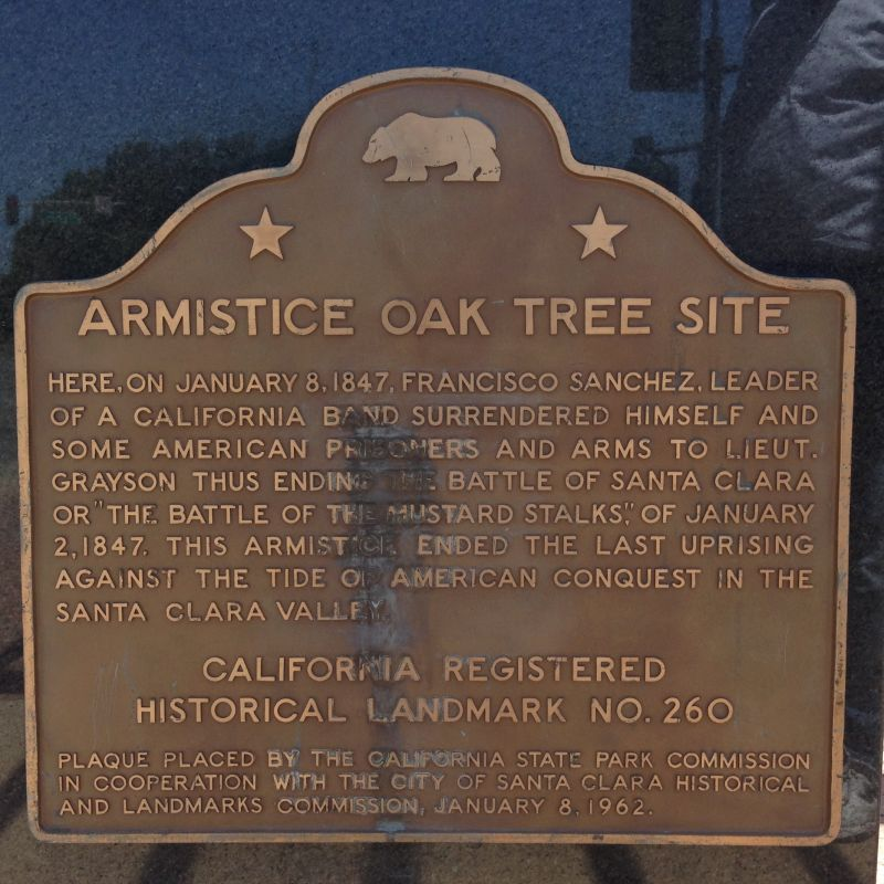 NO. 260 SANTA CLARA CAMPAIGN TREATY SITE - First State Plaque