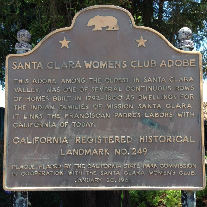 NO. 249 OLD ADOBE WOMAN'S CLUB - State Plaque