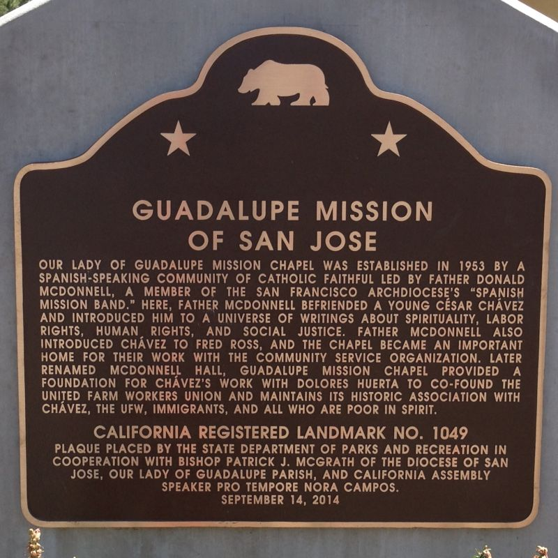 No. 1049 GUADALUPE  MISSION OF SAN JOSE - State Plaque