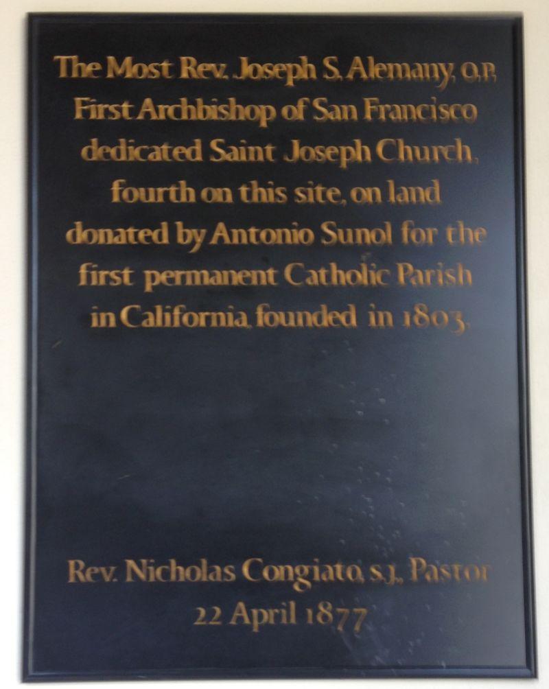 NO. 910  ST. JOSEPH'S CATHOLIC CHURCH - Private Plaque