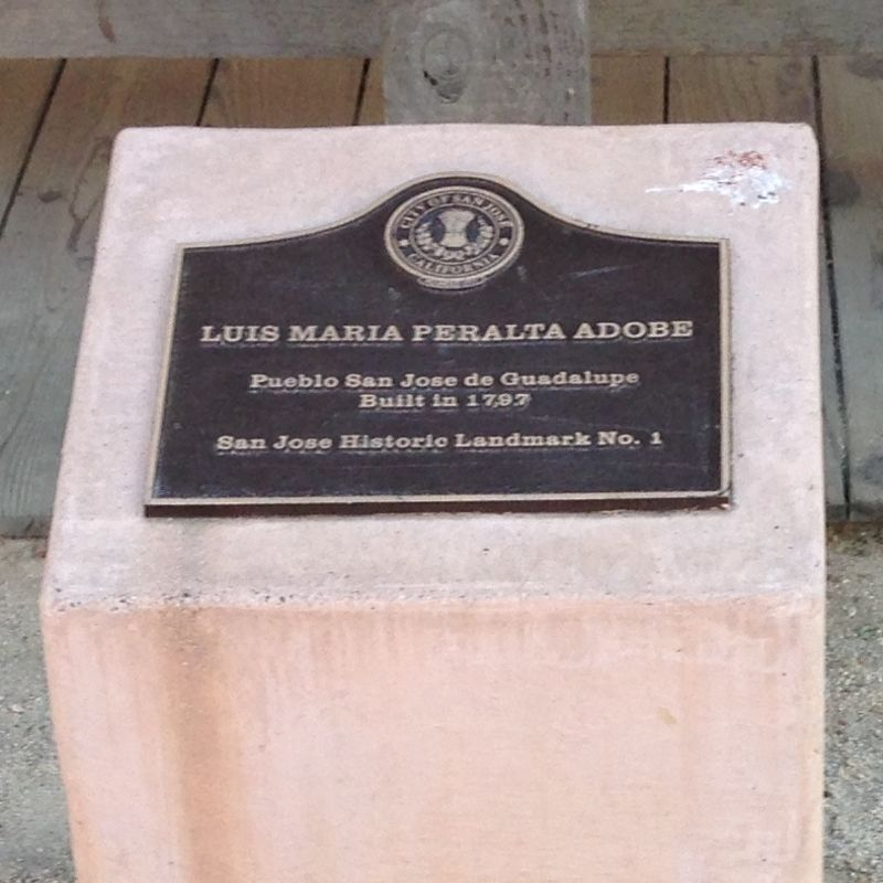 NO. 866 LUÍS MARÍA PERALTA ADOBE - Private Plaque