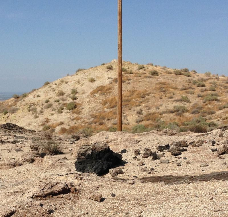 NO. 376 CALIFORNIA STANDARD OIL WELL 1 -  hardened clumps of oil