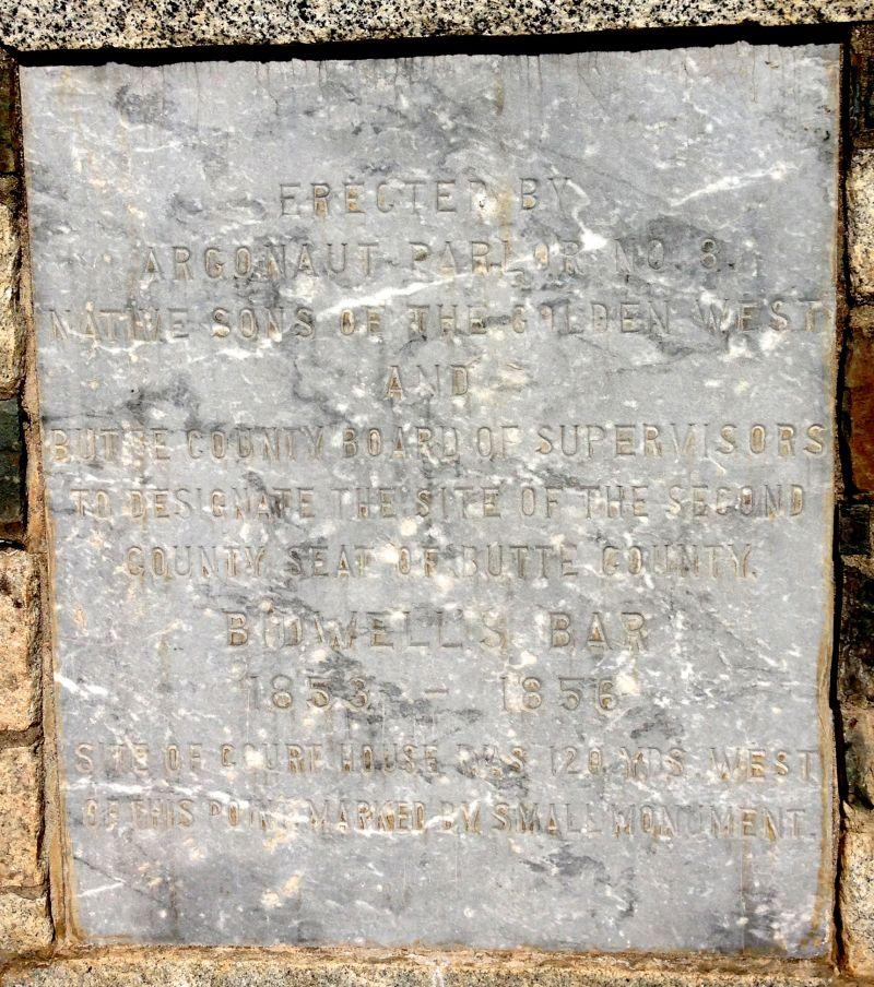 NO. 330 BIDWELL'S BAR - Private Plaque