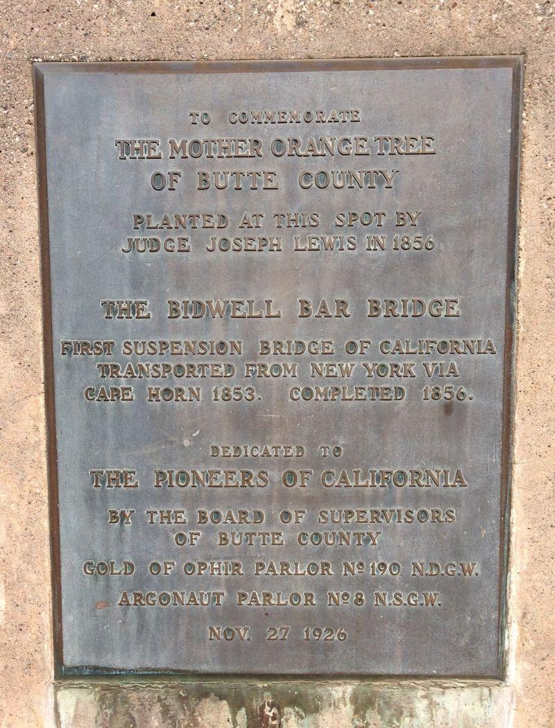 NO. 314 OLD SUSPENSION BRIDGE - Plaque