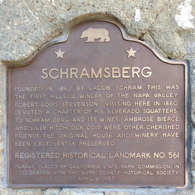 NO. 561 SCHRAMSBERG - State Plaque