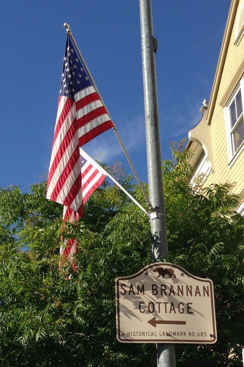 NO. 685 SAM BRANNAN COTTAGE, CALISTOGA - Street Sign
