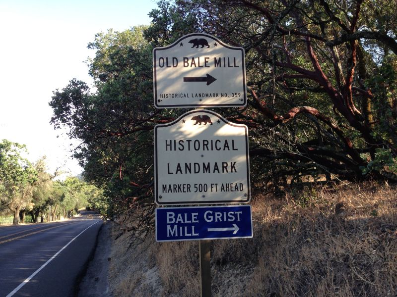 NO. 359 OLD BALE GRIST MILL - Street Sign