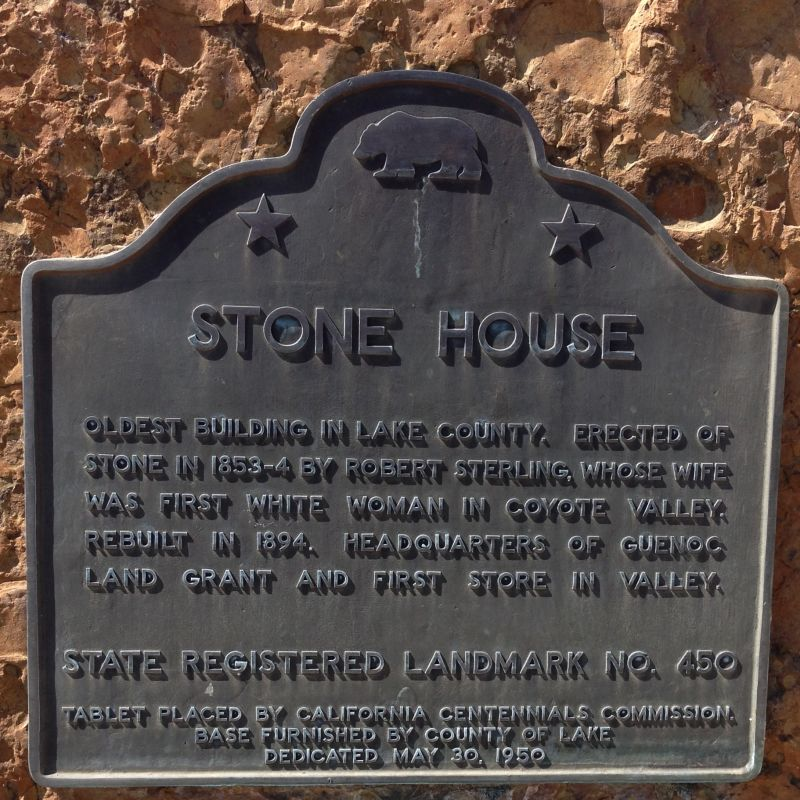 NO. 450 STONE HOUSE - State Plaque