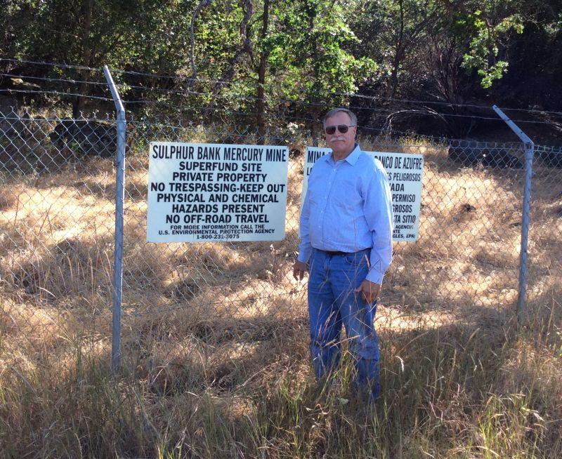 Sulphur Bank Mine - Warning Sign