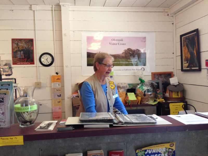 Visitor Center Docent- Peg was a great help!