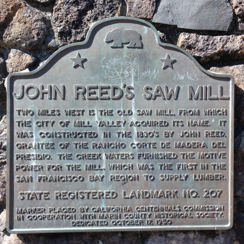 NO. 207 FIRST SAWMILL IN MARIN COUNTY - State Plaque