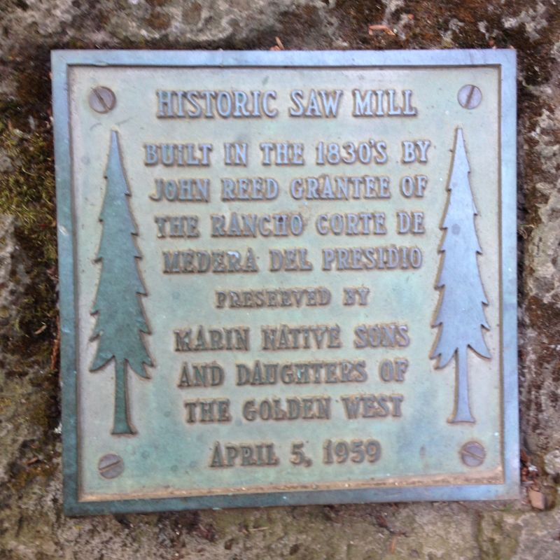 NO. 207 FIRST SAWMILL IN MARIN COUNTY - Private Plaque
