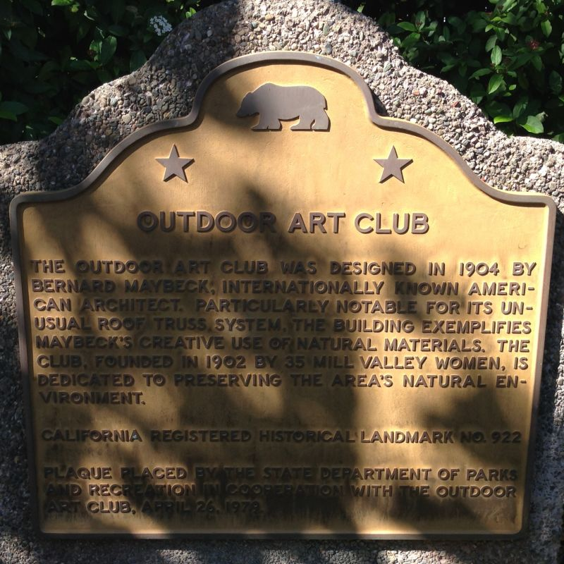 NO. 922 OUTDOOR ART CLUB - State Plaque