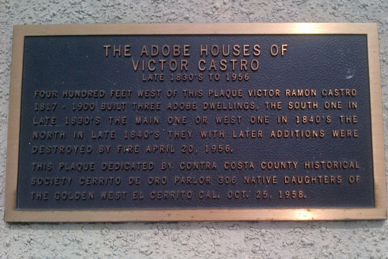 NO. 356 CASTRO HOME - Private  Plaque
