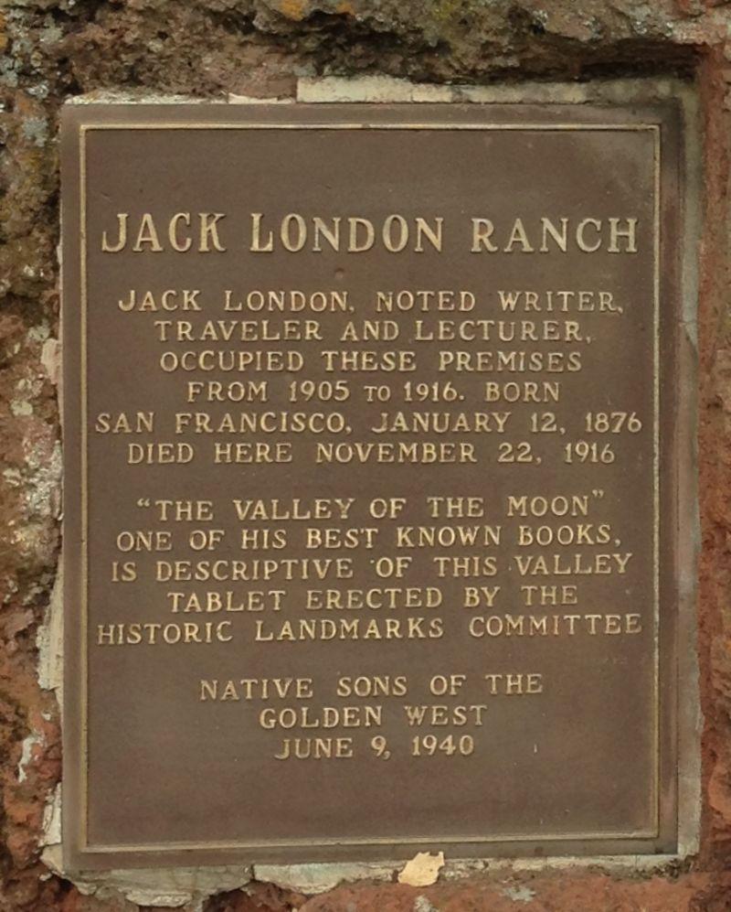 NO. 743 JACK LONDON STATE HISTORIC PARK - Private Plaque