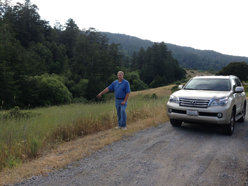 Park in the turnout next to the meadow approximately 4.1 mi south of Olema.