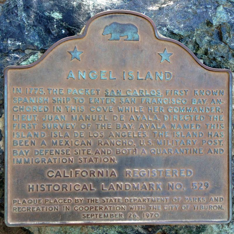 NO. 529 ANGEL ISLAND - State Plaque