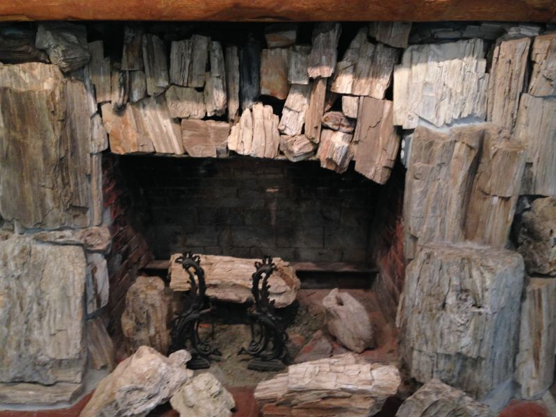 NO. 915 PETRIFIED FOREST - Fireplace out of petrified wood