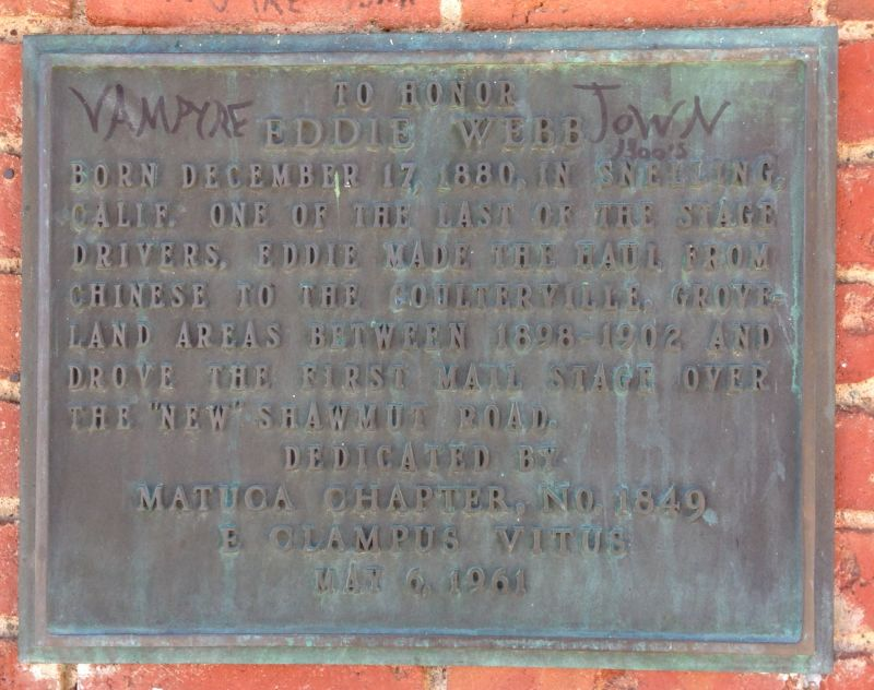 NO. 140 WELLS FARGO EXPRESS COMPANY BUILDING - Private Plaque