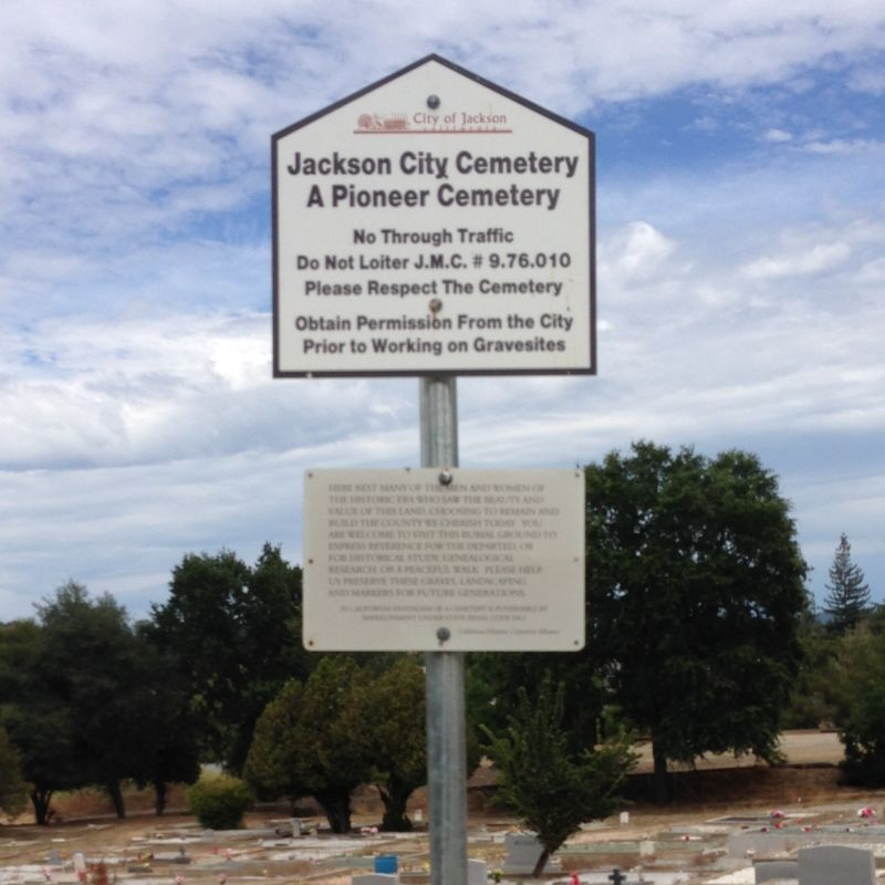 NO. 786 ARGONAUT AND KENNEDY MINES - Jackson City Cemetery