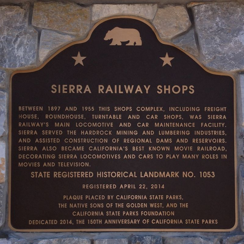 No. 1053 Sierra Railway Shops - Plaque