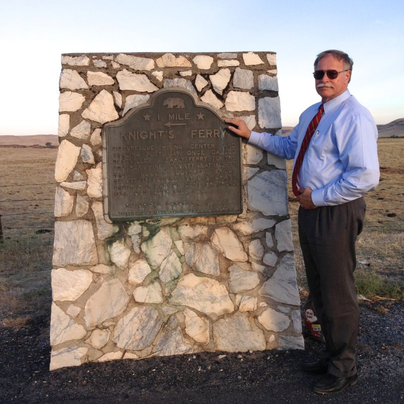 NO. 347 KNIGHTS FERRY - Marker is on CA 120, 150 feet SW of Kennedy Road