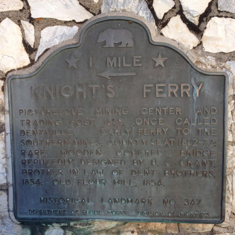 NO. 347 KNIGHTS FERRY - State Plaque