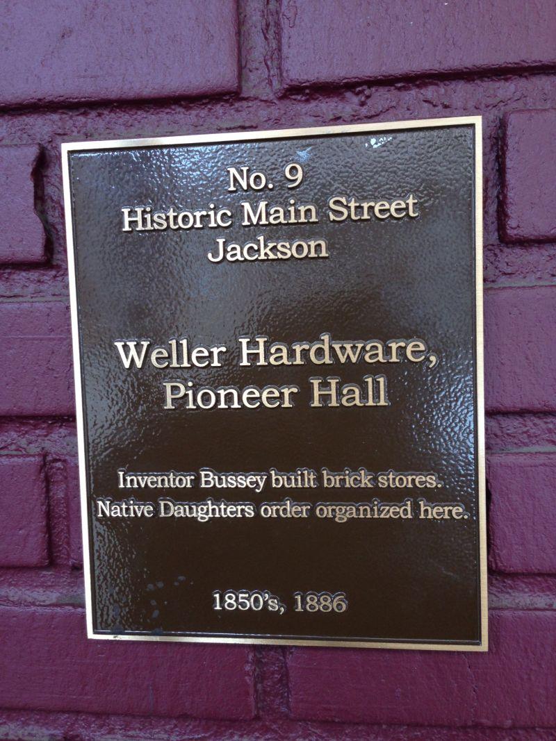 NO. 34 PIONEER HALL - City Plaque