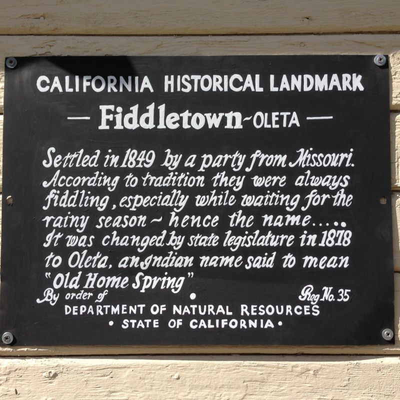 NO. 35 OLETA (OLD FIDDLETOWN) - Store Sign