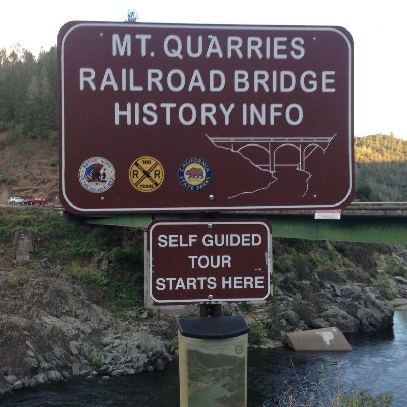 No. 1051 Mountain Quarries Railroad Bridge  (Placer side)