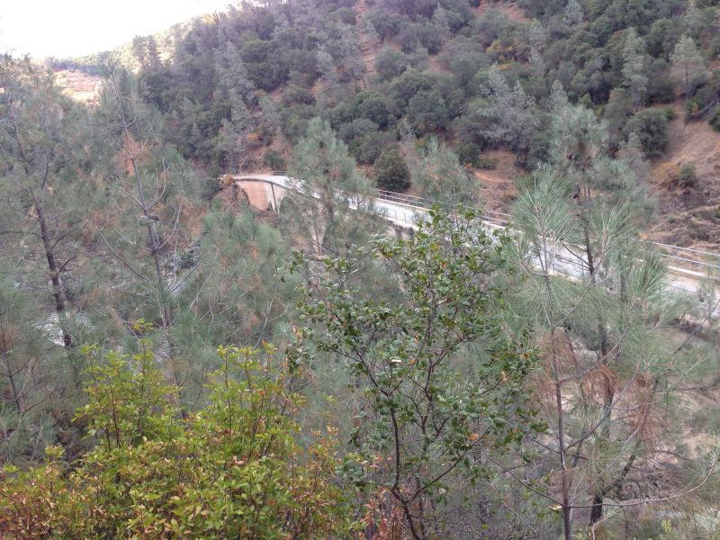 No. 1051 Mountain Quarries Railroad Bridge - From the trail looking down. (Placer Trail)