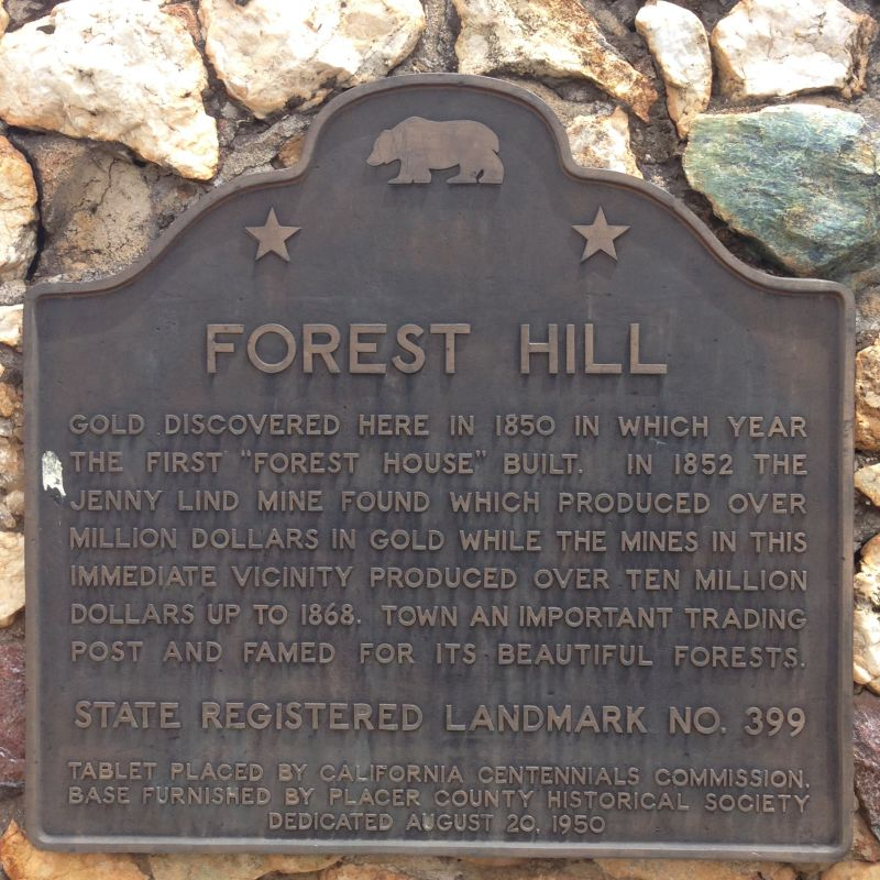 NO. 399 TOWN OF FOREST HILL - Plaque