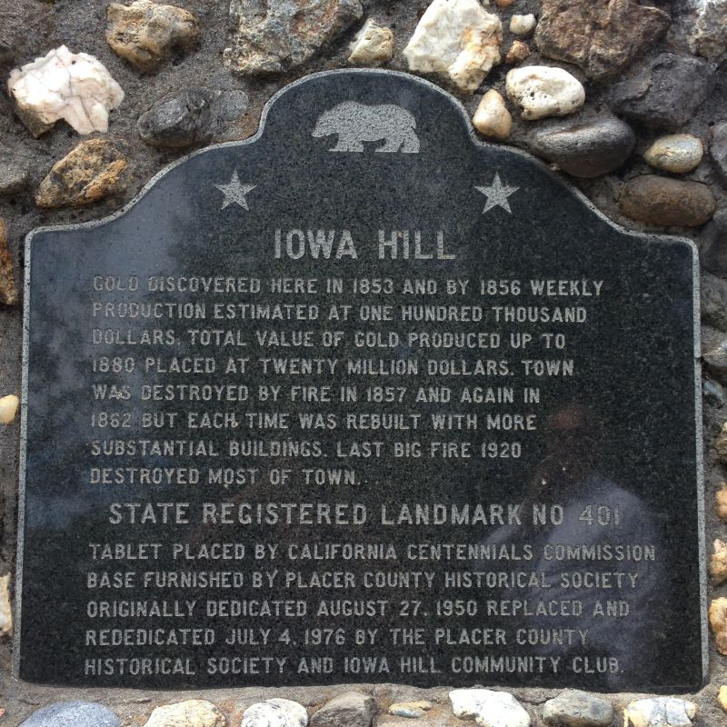 NO. 401 IOWA HILL - State Plaque (replacement)