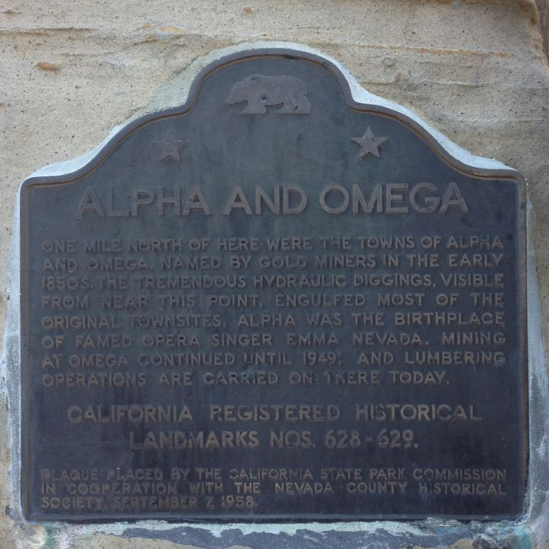 NO. 629 OMEGA HYDRAULIC DIGGINGS AND TOWNSITE - State Plaque