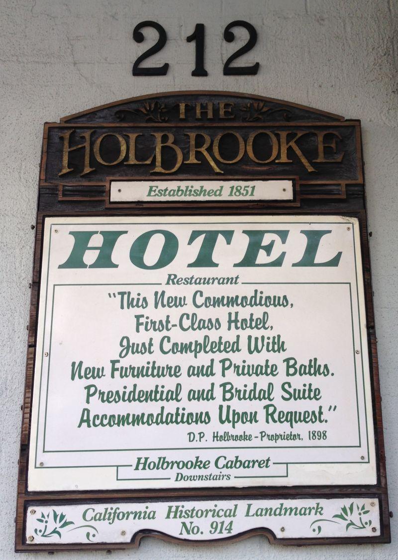 NO. 914 HOLBROOKE HOTEL - Hotel Sign