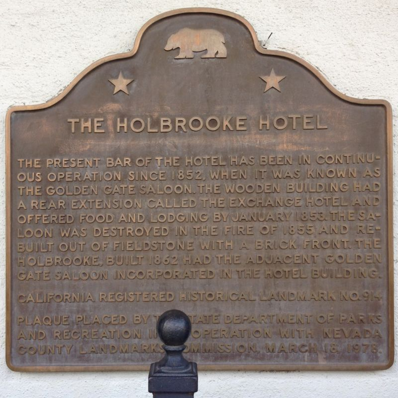 NO. 914 HOLBROOKE HOTEL - State Plaque