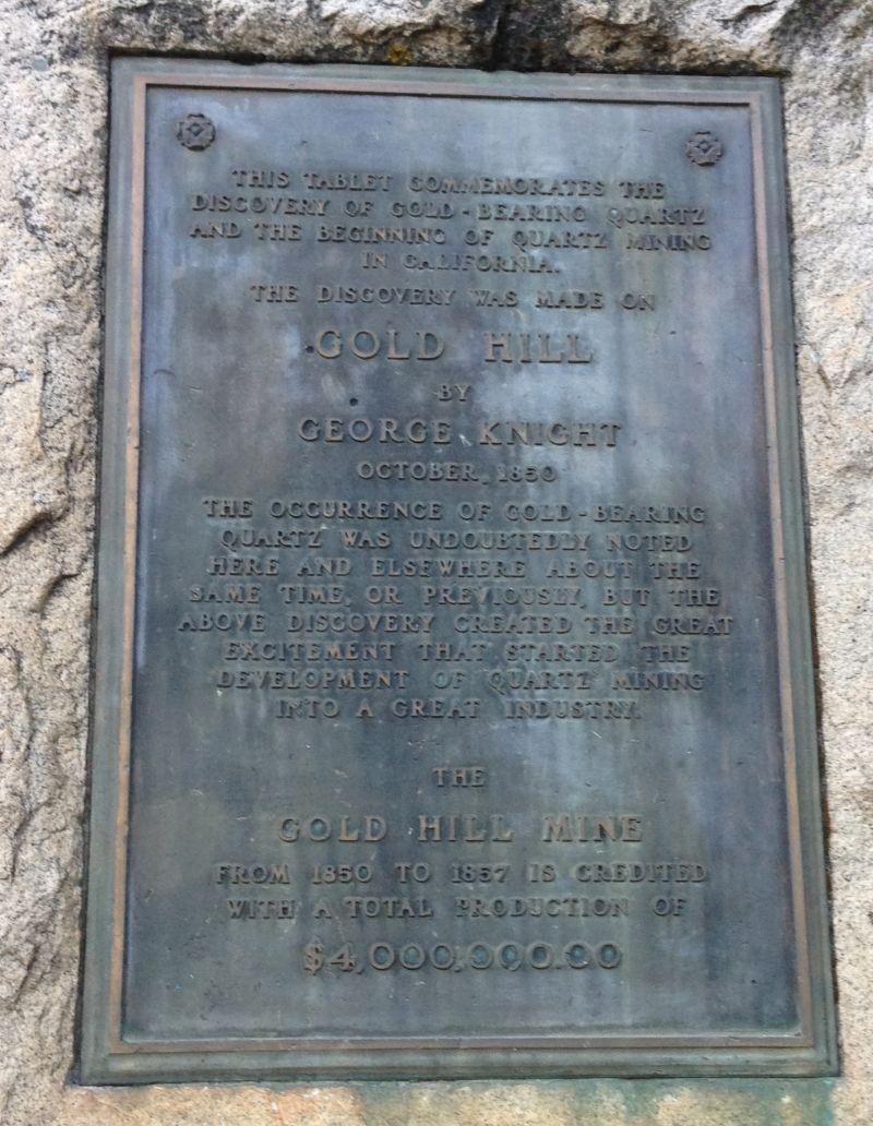 NO. 297 SITE OF Gold Hill Mine - Private Plaque