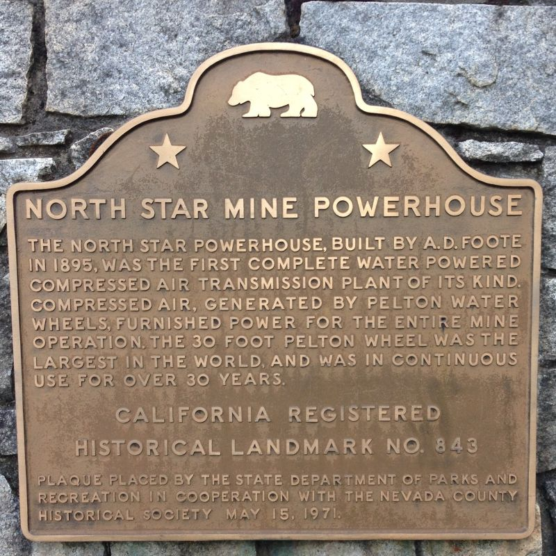 NO. 843 NORTH STAR MINE POWERHOUSE - State Plaque
