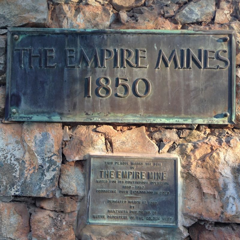 NO. 298 EMPIRE MINE - private plaques