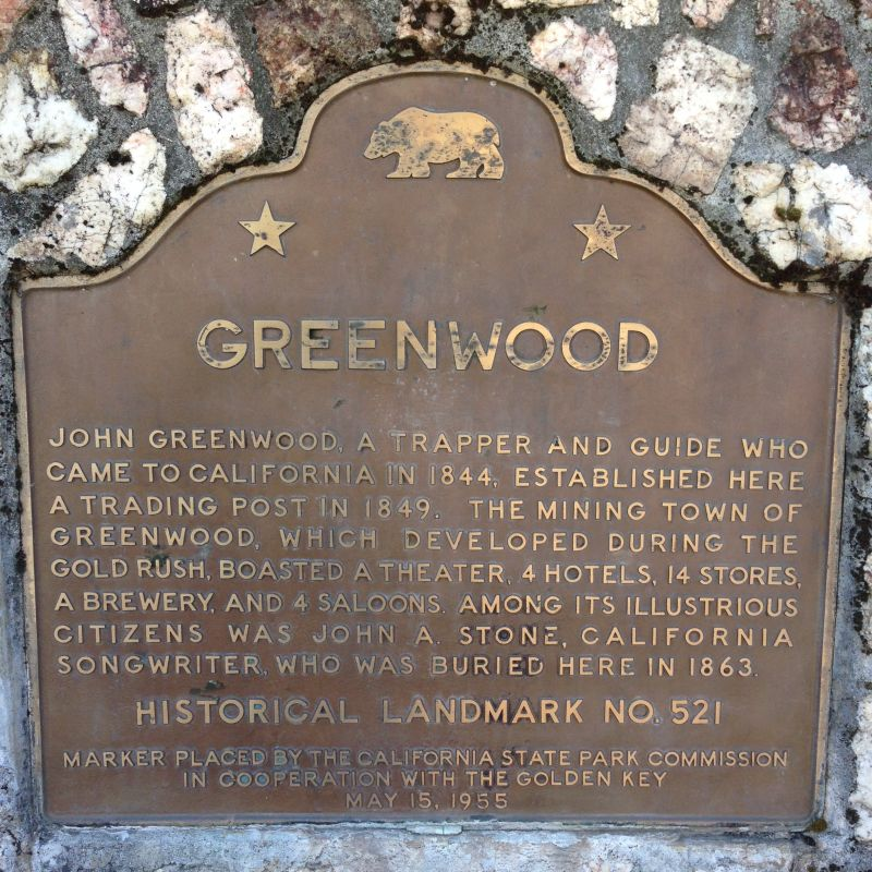 NO. 521 GREENWOOD - State Plaque